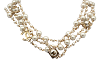 Бусы Chanel Quadruple Golden Pearls